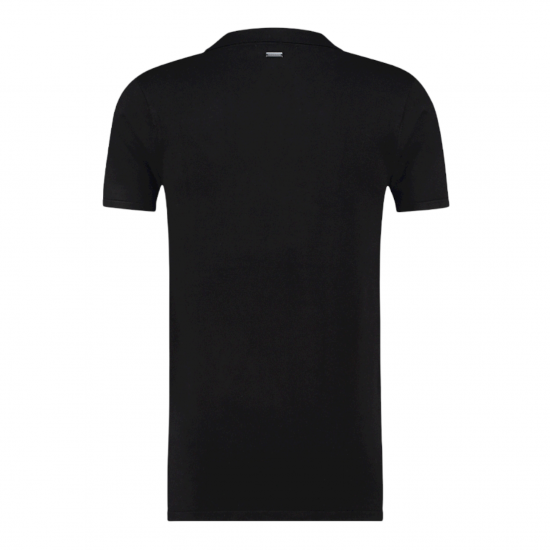 PURE WHITE Essential Knit Polo SS Black